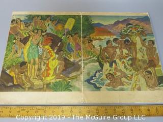 "Hawaiian ""Festival of the Sea"" Dinner Menu Aboard the S.S. Lurine"