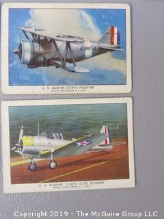 "Collection of 28 Avaition ""Wings Cigarettes"" Cards"