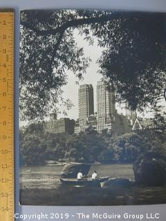 Large format B + W photo of Central Park/Essex House by Arthur Rickerby