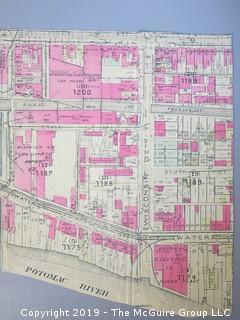 1920's Original Real Estate Map of Georgetown, WDC.