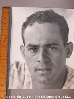 Large Format B + W photo of Luis Apericio, Chicago White Sox