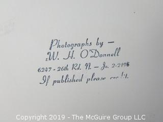 Large Format B + W photo; subjects unknown; by W. H. O'Donnell