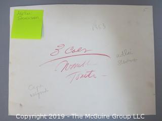 (4) Large Format B + W photos Adlai Stevenson and Early NASA Mission Splashdown