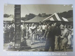 (4) Large Format B + W photos including ham radio operators