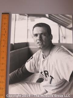 Large Format B + W photo of Rocky Colavito; Detroit Tigers; circa 1960