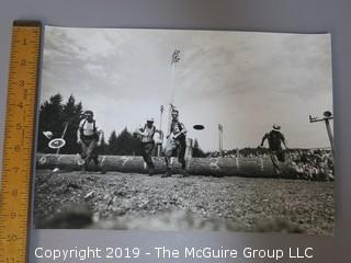 Large Format B + W photos of Woodsmen Competition; Arthur Rickerby