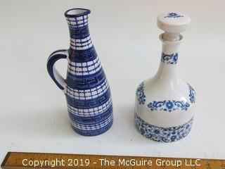 (2) Portugese ceramic pitchers