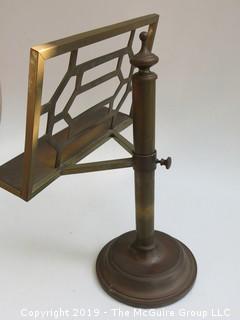 Brass Adjustable Book Stand