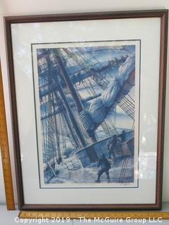 Framed Print Under Glass; pencil signed and numbered; Pete Peterson