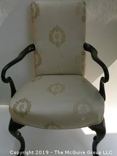 Upholster Arm Chair with stenciling