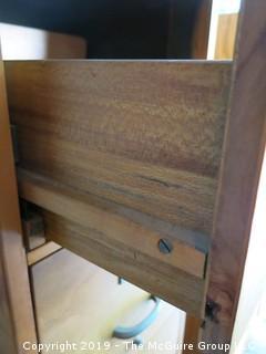 Letter Size Wooden 4 Drawer File Cabinet with wooden drawer slides