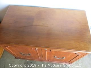 "M-C Rosewood refrigerator/liquor cabinet (not tested); 34W x 19D x 31 1/2"" T"