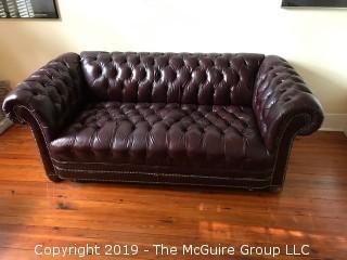 "Chesterfield Sofa; 88W x 30D x 31""Tall"