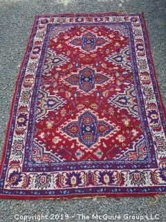 Handwoven Isfahan Persian Carpet; 79 x 122""