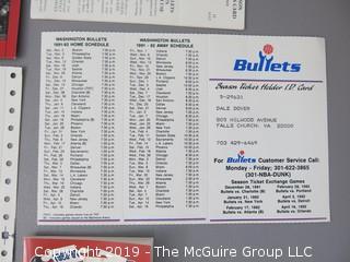 Washington Bullets Memorabilia