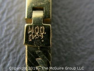 "30"" 14k gold flat Herringbone chain; marked Italy;14.1g"