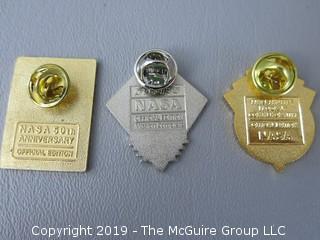 (3) NASA Pins