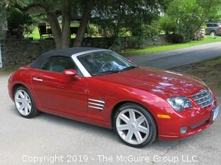 2005 Daimler/Chrysler Manual Roadster Crossfire Convertible; 31,137 miles