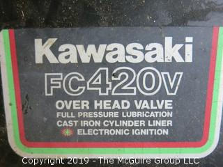 """48"""" Walk Behind Gravely Pro-50 Mower (Model 988077, Serial # 668); with Kawasaki FC420v Electronic Ignition Start Engine (Tecumseh Model # H700-032; D.O.M. 5283-0015)"""