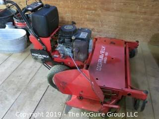"48"" Walk Behind Gravely Pro-50 Mower (Model 988077, Serial # 668); with Kawasaki FC420v Electric Start Engine (Tecumseh Model # H700-032; D.O.M. 5283-0015)"