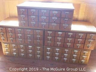 Wooden Card Catalogs