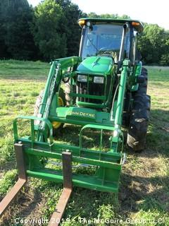 2017 John Deere 5101E Tractor; only 798 hours; with Loader and Adjustable Forks, Bucket and Hay Spear