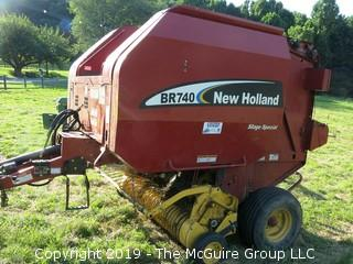 New Holland BR 740 Round Baler; P.I.N. # 65350; (new owner to disassemble monitor from JD 5101E Cab)