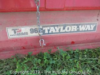 Taylor-Way 962 6' Tiller- Gear Drive  Ser # 1001346933