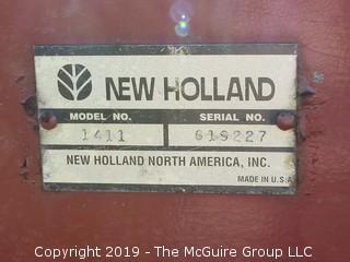 "New Holland Model 1411 Discbine Cutter/Conditioner; Serial #619227; Cutting Width 10"" 4"""