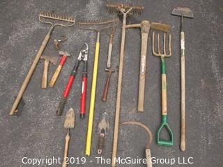 Collection of Garden Tools including Pruners