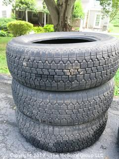 "Set of (3) Bridgestone ""Blizzak"" Steel Belted Radial Tires; 205/60R15"