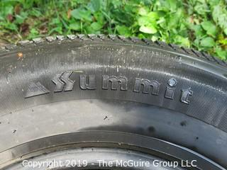 (1) Summit Steel Belted Tire; 225/75R15