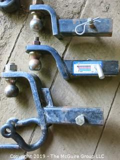 Collection including Clevice and (3) Trailer Hitches of various sizes, each with ball hitch