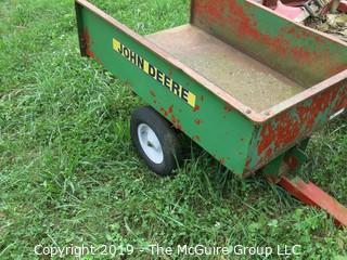 John Deere Pull Behind 2-wheeled metal wagon