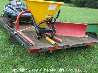 "1985 Dual Axle Utility Trailer; 8' x 16'; 2"" ball; needs work"