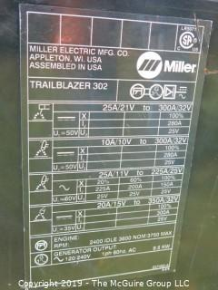 "(2) Miller Trailblazer Welders on wooden pallets. Each has a sticker saying ""Non-repairable"".  Buying for parts only.  (Note: Description altered 09.04 @ 6:50pm)"