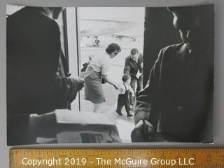 Photographic Story of RFK's U.S. Department of Justice Criminal Prosecution of Jimmy Hoffa, circa 1960's.  Contains more than 75 large format B&W photos, credited to Arthur Rickerby, who chronicled the life of Walter Sheridan, special assistant to Robert F. Kennedy and head prosecuter in the case for a feature story by LIFE Magazine.  Other notables in the story were Jim Neal, Dave Vestal, Bill French.  James Riddle Hoffa was an American labor union leader who served as the President of the International Brotherhood of Teamsters union from 1957 until 1971. He vanished in late July 1975, at age 62.