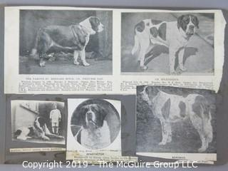 Early dog scrapbook mostly St. Bernards