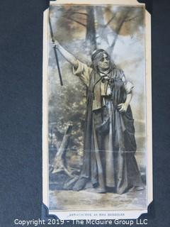 Scrapbook of 19th century actress, Fanny Janauschek