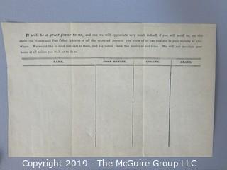 Collection of 19th c ephemera including merchant receipts