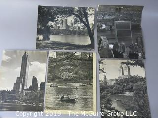 Collection of Large Format B + W Photos of New York City and Central Park taken by iconic photographer Arthur Rickerby