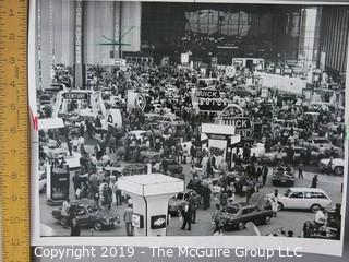 Collection of Large Format B + W Photos including 1971 Chicago Auto Fair
