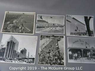 Collection of Large Format B + W Photos including The Chicago Fair of 1950