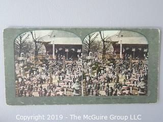 Collection of Stereoscope Cards some color tinted