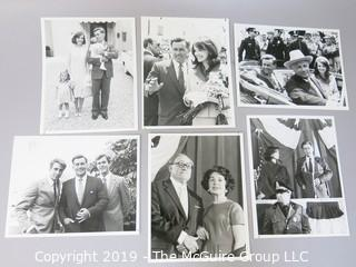 """Collection of B + W Publicity Photos by NBC for """"Kennedy"""" mini-series 1983 w/ Martin Sheene"""
