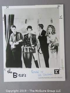 Collection of Large Format B + W Publicity Photos by numerous banks including The Motley Crew, The Byrds, AC/DC, Motorhead, Aerosmith, B-52/s, Steve Miller, and James Doohan.