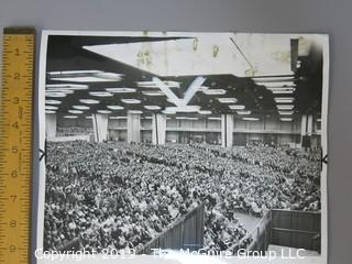 Collection of large format B&W photo of Billy Graham Crusade in Chicago
