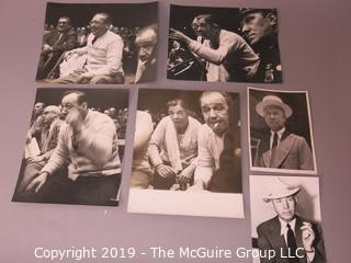 Collection of large format B&W photos including boxing promoters and ringmen