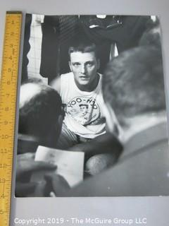 "11 x 14"" B&W photo of Roger Maris at his locker, taken by iconic sports photographer Arthur Rickerby"
