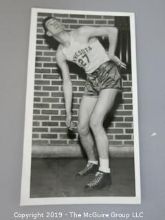 Collection of large format B&W sports photos including Pat Stepleton, Marcel Bonin and Clarence Solem